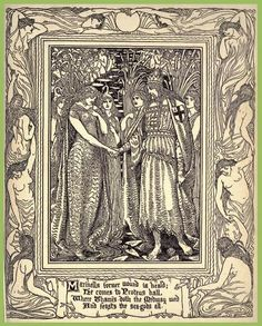 One of Walter Crane's Illustrations for the 1894 Edition of The Faerie Queen.