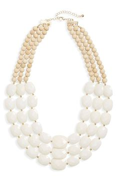 Natasha Couture Multistrand Statement Necklace available at #Nordstrom