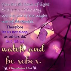 I Thessalonians 5:5-6
