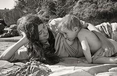 Breast Feeding on the Beach, Christine Godden