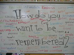 'YourKids' Teacher: Erasing Meanness This is a powerful activity. There will always be some tough years when you need to really get the attention of your students in order to make a break though in improving behavior. This activity is one that can do just that.