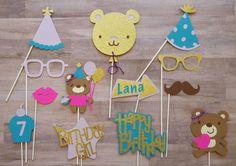 Teddy Bear Themed Birthday Photo Booth Props