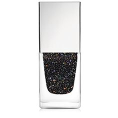 Givenchy Le Vernis Glittery Black Top Coat/0.3 oz. ($23) ❤ liked on Polyvore featuring beauty products, nail care, nail polish, apparel & accessories, no color, shiny nail polish, givenchy nail polish and givenchy
