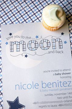 The Creative Mind: Love you to the Moon and Back - Baby Shower for a Boy