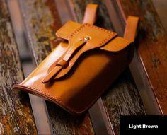 Hip Satchel Custom Vintage Leather Hip Bag by VibrantLeathers