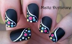 Endearing Easy Dotted Matte Nail Art