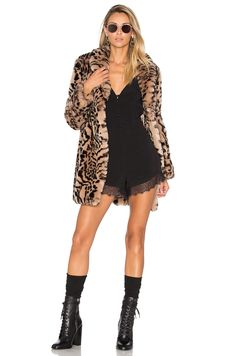 Lovers + Friends x REVOLVE Ava Faux Fur Coat in Andas