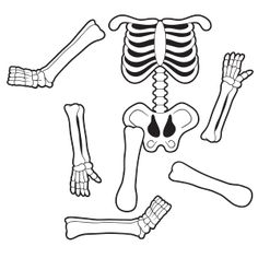 make your own dancing mr. bones with this skeleton puzzle. free, Skeleton