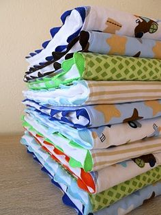 DIY burp cloths, super cute and you can customize to your theme!! Great gift too!