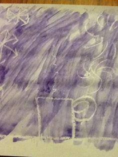 Watercolours + white pen
