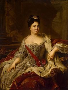 """""""Catherine I of Russia"""" by Nattier Catherine I, Empress and Autocrat of All the Russians"""