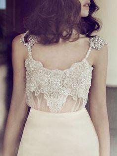 lace beaded sheer