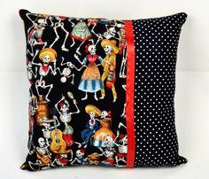 14x14 Fiesta de los Muertos & Polka Dots Throw Pillow - $13.19 from Sabbie's Purses and More