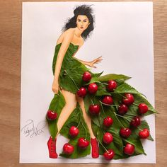 """66.7b Beğenme, 665 Yorum - Instagram'da EdgaR_ArtiS (@edgar_artis): """"Cherry Bae  Made with cherries and its leaves. Hope you like it guys. I appreciate you all so…"""""""