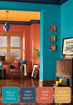 Make A Bold Statement In Your Entryway With Colorful Behr Paint Palette Try Freshgrey And Yellow Color Schemes Gray Green