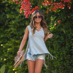 cba67d325b2 Stylish Split Fringe Cool Casual Tank Top. Trendy Clothes For WomenStylish  ...