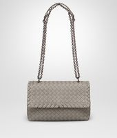 Shop Bottega Veneta® Women's BABY OLIMPIA BAG IN FUME' INTRECCIATO NAPPA. Discover more details about the item.