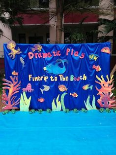 Dramatic Play Fun Trip to the Beach ~ backdrop ~