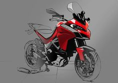 Watch Ducati Assemble the New Multistrada 1200 - Asphalt & Rubber Moto Ducati, Ducati Scrambler Cafe Racer, Ducati Logo, Ducati 999, Cafe Racers, Ducati Multistrada 1200, Ducati Hypermotard, Bike Sketch, Car Sketch