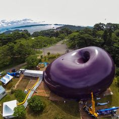 Architect Arata Isozaki and artist Anish Kapoor have completed an inflatable mobile concert hall that will tour tsunami affected regions of Japan