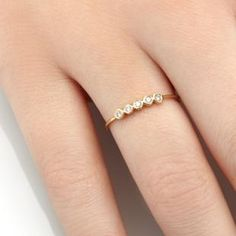 Kind of loving the idea of black diamonds too... Ah decisions decisions Dew Ring | Vale Jewelry
