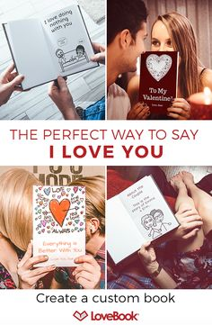 Want to go beyond jewelry, chocolates and flowers? Bring your love story to life with a personalized LoveBook. Creating one is fun and simple -- choose a cover, customize your characters and personalize each page as much or as little as you�d like.