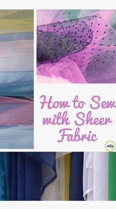 Beth Bradley presents beneficial tips and techniques to successfully sew with sheer fabrics. Learn the different types of sheer fabrics such as sheer crystal and sheer soft fabrics. Find out what tools work best and the proper threads to purchase when sewing with sheer. Use these tips to make beautiful sheer products that shine and are made to perfection. Sewing Blogs, Sewing Basics, Sewing Tips, Sewing Hacks, Sewing Tutorials, Sewing Projects, Sewing Ideas, Diy Fashion No Sew, Fashion Sewing