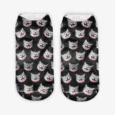 Women Ladies 3D Printed Animal Pattern Socks Cute Cat Low Cut Ankle Hosiery at Banggood
