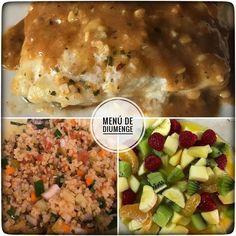 Menú de diumenge avui a casa:  1. Tabulé thailandés 2. Bacallà amb salsa de llimona 3. Postres: macedònia amb cointreau suc de taronja i mel. Plaers de cuinar a casa!  #petitsplaers #lunch #lunchtime #food #foodporn #foodtime #handmade #cook #cooking #dessert #menu #weekend #yummy