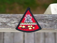 Girl Scouts At The Theatre Embroidered Patch Badge Red Play Concert Production  | eBay