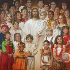 There are so many children who are not hearing about Jesus, with no prayer in school and parents who do not attend church, children are left to wonder. Please pray with me today that the Holy Spirit will reach into the hearts of children, Jesus Loves You. Croix Christ, Arte Lds, Image Jesus, Pictures Of Jesus Christ, Lds Art, Jesus Art, Biblical Art, Jesus Is Lord, Christian Art