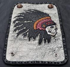 (SOLD) Indian Chief Black Crow Wallet