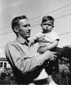 Young Steve Jobs with his adoptive father, Paul Jobs
