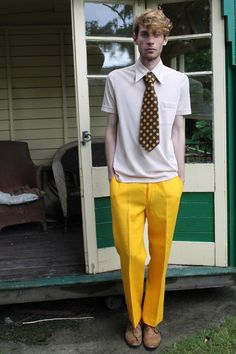 Vintage 60s bright yellow men's mod trousers by TinTrunk on Etsy, £21.00