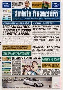 OpinionPublicaSantafesina(ops): diarios de argentina 2 de julio