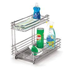 """Household Essentials Glidez 12.5"""" Under Sink Sliding Organizer KD in Chrome"""