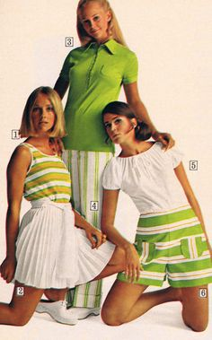 Sears catalog 1970  -  Cay Sanderson, unknown model and Colleen Corby.