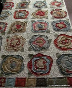 Bette's French Roses quilt - pattern by Heather French -   so not my style but intriguing and i'm giving it some consideration