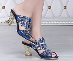 2016 Crystal Wedding Shoes Wedges Blue/Green/Gold Bridal Sandals Women Slippers Bridesmaid Shoes Prom Shoes Party Dresses Where To Get Wedding Shoes White Peep Toe Wedding Shoes From Gonewithwind, $83.77| Dhgate.Com