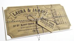 Circus Ticket Wedding Invitation with RSVP card door STNstationery