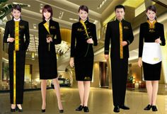uniform embroidery on sale at reasonable prices, buy hotel uniform staff uniform make to order from mobile site on Aliexpress Now! Spa Uniform, Hotel Uniform, Office Uniform, Office Outfits, Uniform Ideas, Corporate Uniforms, Staff Uniforms, Waitress Outfit, Restaurant Uniforms