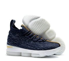 a14ed7026251 Kith x Nike LeBron Mens Basketball Shoes Dark Blue Gold White