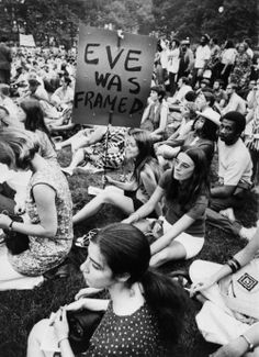 Hippies and feminism mix quite well. I'm not a feminist but this is a clever sign. What Is A Feminist, Feminist Art, Womens Liberation, Cognitive Dissonance, Protest Signs, Protest Art, Riot Grrrl, Intersectional Feminism, Equal Rights