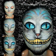 Cheshire Cat Make up by CrissabbathPaintArt.deviantart.com on @DeviantArt