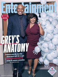 Collector\'s Cover #4: James Pickens Jr. (Dr. Richard Webber) and Chandra Wilson (Dr. Miranda Bailey)