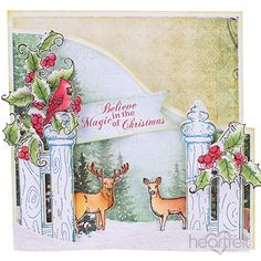 Festive Holly Haven card made w/ Festive Holly collection from #HeartfeltCreations #Christmas