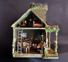 Fairy House with Fairy Furniture by Torisaur, via Flickr