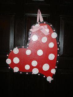 Valentine's Day scalloped edge heart retro dots  by merrymerchant, $18.00