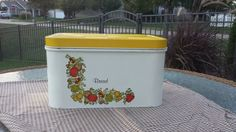 A personal favorite from my Etsy shop https://www.etsy.com/listing/473733522/1970s-cheinco-metal-bread-box-yellow-lid