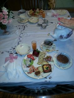 Tea party food plate. -Ruth Nelson Designs.
